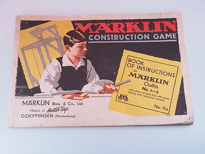 Vintage / Collectible MARKLIN TOY CONSTRUCTION SET MATERIALS w/Instruction Book