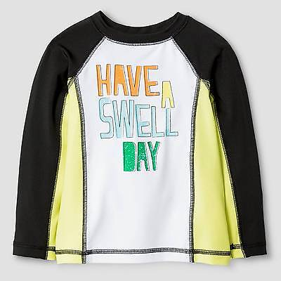 Baby Boys' Have A Swell Day Rash Guard Baby Cat & Jack™ - Black & White