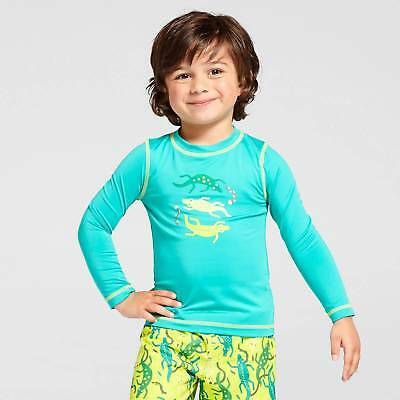Toddler Boys' Lizard Long-Sleeve Rash Guard Cat & Jack™ - Turquoise 4T
