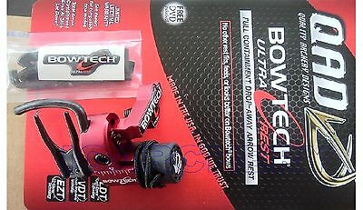 360 RPM QAD UltraRest BowTech RED RH + 3 FT OF STRING LOOP MATERIAL