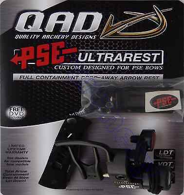 PSE QAD Ultra Rest Black LEFT HAND + 3 ft of Free String Loop Material