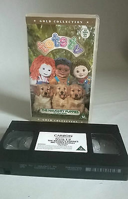 Tots Tv Video Vhs- GOLD COLLECTION- The Naughty Puppies & Other Stories PAL U