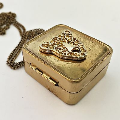 Vintage Miniature Music Box Pendant Necklace and Photo Locket ·Personalized Gift