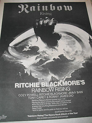 "Rainbow ""rainbow Rising"" Album Advert From 1976 A3 Size"