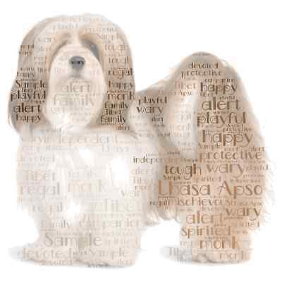 Lhasa Apso New colour personalised word art Dog gift Pet A3 A4