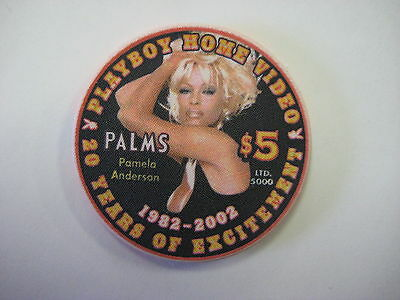 Playboy Club Palms Hotel Casino Pamela Anderson $5 chip 2002 Collectible HTF