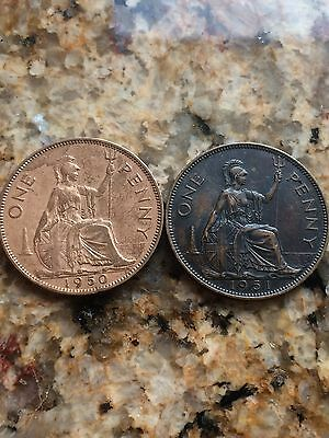 1951 Great Britain Penny - Nice Key Date