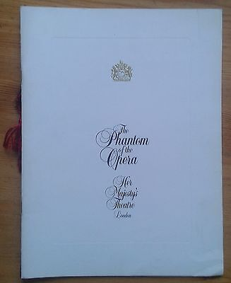 The Phantom of the Opera Souvenir Brochure/photo programme May 1987 edition