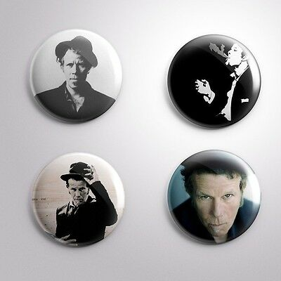 4 TOM WAITS - Pinbacks Badge Button 25mm 1''