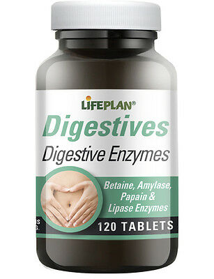 Lifeplan Digestive Enzymes 120 Tablets - Aid to Healthy Digestion