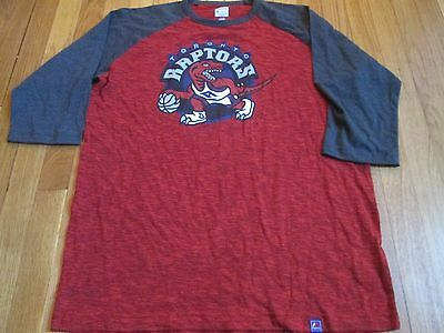 Majestic Nba Hwc Toronto Raptors 3/4 Sleeve Triple Peak T-Shirt Size L