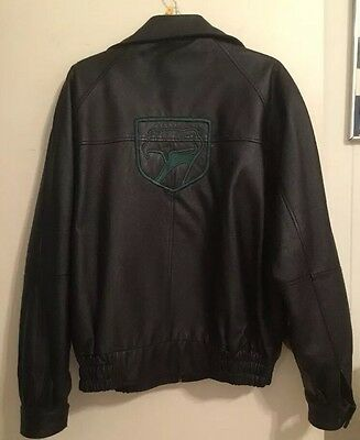 Dodge Viper Leather Jacket Sneaky Pete Mens Size M/l Black