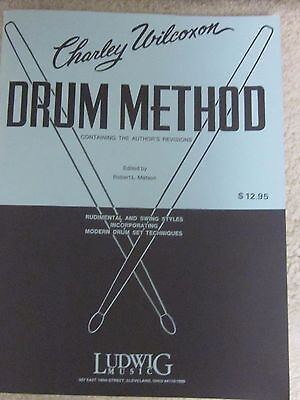 Charley Wilcoxon Drum Method-new'old stock' book from 1981 ,Ludwig