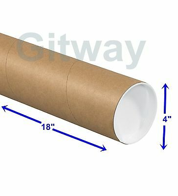"4"" x 18"" Cardboard Poster Shipping Mailing Mail Packing Postal Tube 15 Box Tubes"