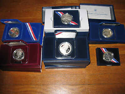 16  Commemorative Silver  Dollar S From U.s. Mint With Boxes And Certificates