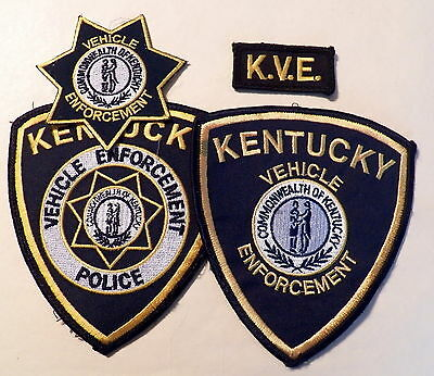 KENTUCKY State Police Vehicle Enforcement Division (K.V.E.) Patches - LOT of 4