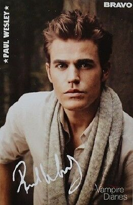 PAUL WESLEY - Autogrammkarte - Autograph Autogramm Clippings The Vampire Diaries