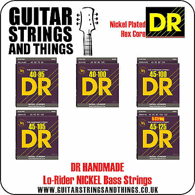 Dr Handmade LO RIDER Nickel Plated BASS Guitar Strings - ALL GAUGES