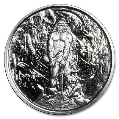 1~Oz .999 Silver Proof ~ Frank Frazetta's ~ The Barbarian ~Numbered~ Coa ~$37.88