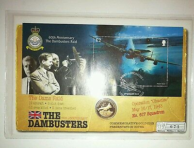 The Dambusters Raid Gold Coin Presentation Cover