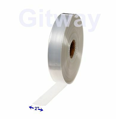 "2"" x 2150' Clear Poly Tubing Tube Plastic Bag Polybags Custom Bags on a Roll 2ML"