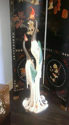 Exquisite oriental huge alcove or floor standing China birds figurine IMMACULATE