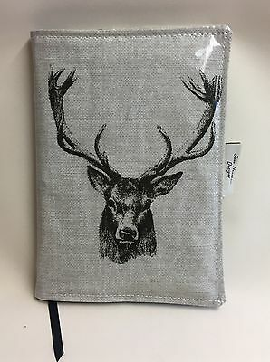 A5 Diary Cover,Week to view A5 diary cover,A5 journal cover,Stags Head Oilcloth