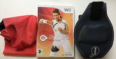 Wii Active wifi Fit Game, DVD, Band, Motion Strap