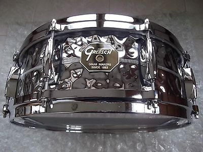 Gretsch USA G4000 Series - Hammered Chrome Over Brass Snare Drum - 5x14""