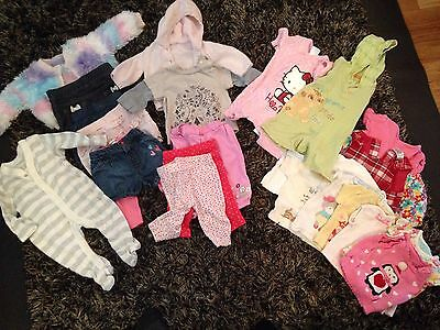 Large Baby Clothes Bundle Girls Up To 0-3m Months 23 Items