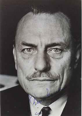 Enoch Powell ' British Politician - Rivers of Blood ' Hand Signed B & W Photo.