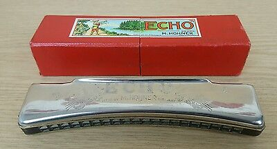 Vintage Hohner Echo 40 Octave Harmonica Key C Diatonic Made in Germany In Box