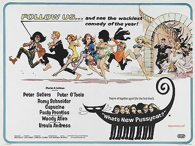 """Whats New Pussycat 16"""" x 12"""" Reproduction Movie Poster Photograph"""