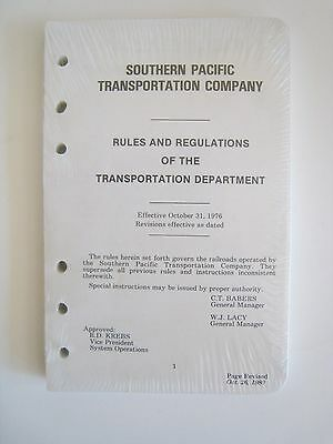 Vintage 1980 Southern Pacific Railroad SP Transportation Department Rules