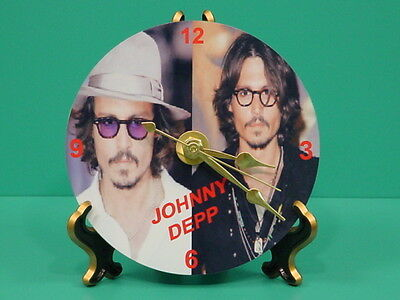 JOHNNY DEPP - Pirates - Photo - Designer Collectible GIFT Clock 02