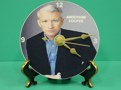 ANDERSON COOPER - Photo - Designer Collectible GIFT Clock