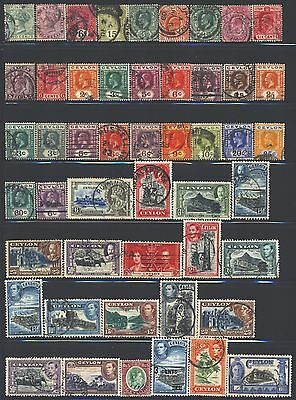 CEYLON Collection of 61 Used 1857-1953 Era All Different