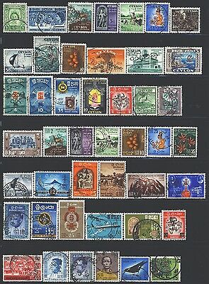 CEYLON Collection of 99 Used 1953-2017 Era All Different