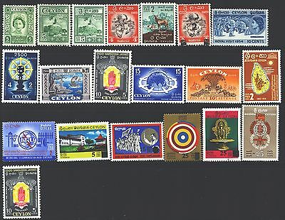 CEYLON Collection of 20 MH 1953-2017 Era All Different