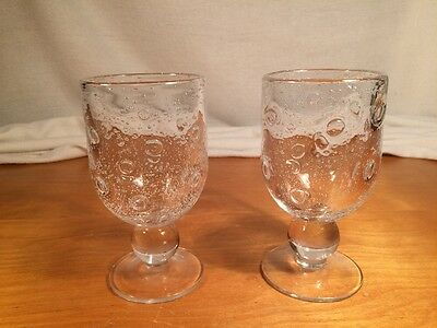 2 (two) Southern Living At Home Goblets Controlled Bubbles 8 Ounce