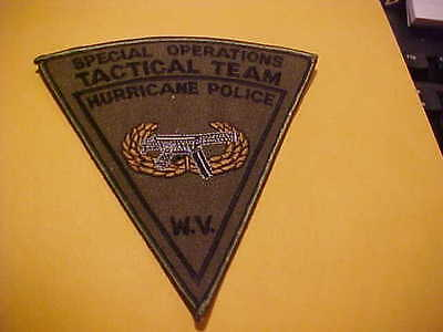 Hurricane W.v. Special Ops Tactical Team Police Patch Shoulder Size Unused