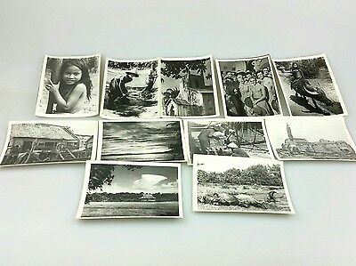 Vintage - Possibly Vietnam - Lot Of 10 Photos - Soldiers And Others - War