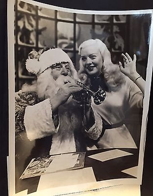 SANTA Plays A Christmas Tune For MARY HARTLINE,ABC Promo, Autographed To Buyer