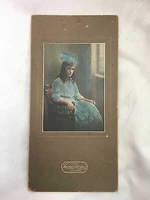 Vintage/antique - Photograph - 14 Year Old Girl - Colour Photo - 1922