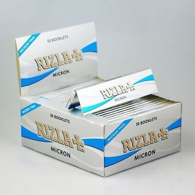 Rizla Silver Micron Cigarette Rolling Papers King Size Slim 1,3,6,12,24 & 50