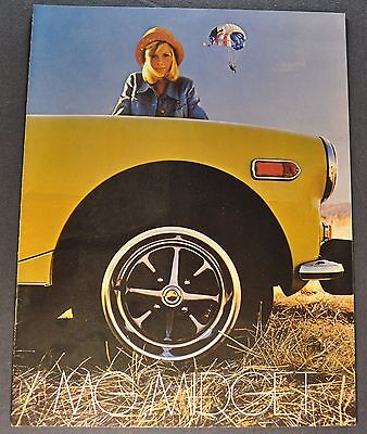1974 MG Midget Catalog Sales Brochure Excellent Original 74