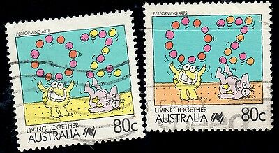 Australia 1988 80c Living Together, Missing Orange (MY42)