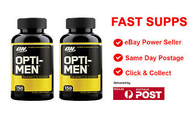 2 x OPTI-MEN by Optimum Nutrition 300 Capsules Multivitamin Optimen FREE POST