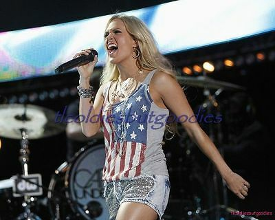 Carrie Underwood Concert Red White Blue Sexy Blonde Country Singer Photo #_0034