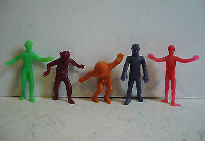 Mexican Universal Monsters --- Dracula Frankenstein Wolf --- Toy Made In Mexico